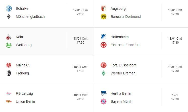 Bundesliga 18. Hafta Fikstür Puan Durumu.jpg